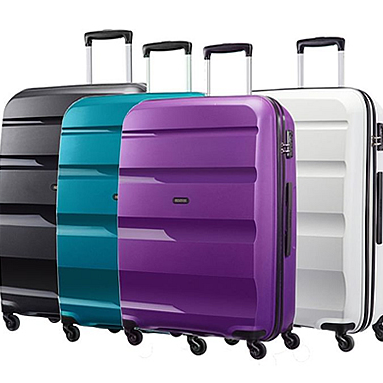 4 koffers van bon air collectie America Tourister