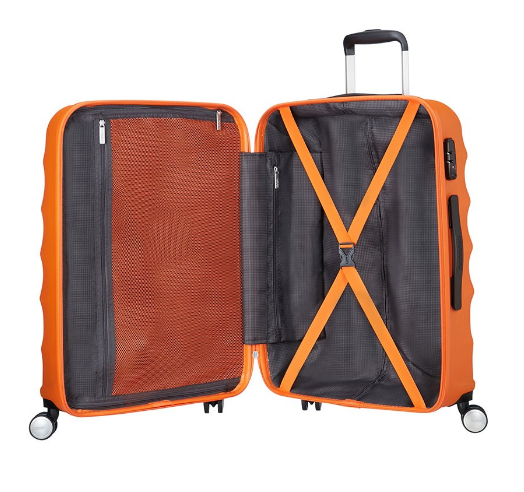 Crystal Glow American Tourister oranje koffer