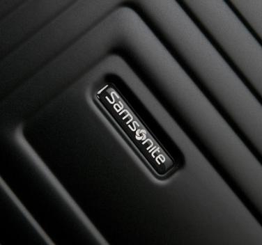 samsonite logo op een koffer